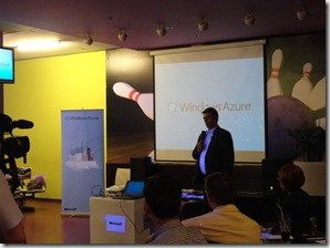 Jugoslav Piric, generalni direktor Microsoft Srbija na predstavljanju Windows Azure u Bowling ce