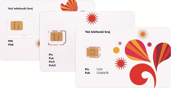 Poredjenje- standard, mikro i nano sim kartica